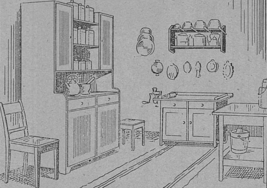 Keittiökalusteet – vuonna 1902.